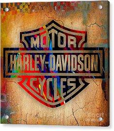 Harley Davidson Cycles Acrylic Print by Marvin Blaine