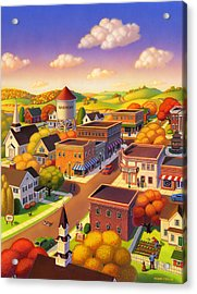 Harmony Town Acrylic Print by Robin Moline