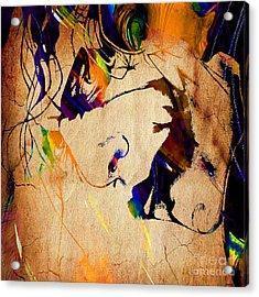 Heath Ledger The Joker Collection Acrylic Print by Marvin Blaine