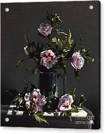 Hibiscus Acrylic Print by Larry Preston