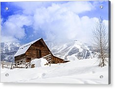 Historic Steamboat Springs Barn Acrylic Print by Teri Virbickis