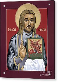 Holy New Martyr Nestor Savchuk 069 Acrylic Print by William Hart McNichols