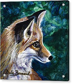 Hopeful Fox Acrylic Print by Dale Bernard