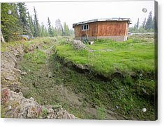 House In Fairbanks Alaska Collapsing Acrylic Print by Ashley Cooper