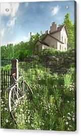 House On The Hill Acrylic Print by Cynthia Decker