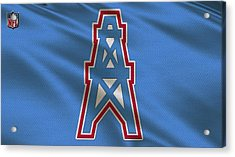 Houston Oilers Uniform Acrylic Print by Joe Hamilton