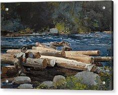 Hudson River Acrylic Print by Winslow Homer