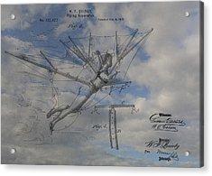 Human Flight  Acrylic Print by Dan Sproul