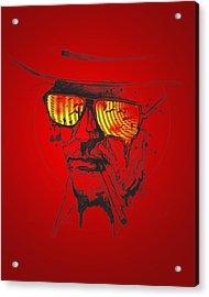 Hunter S. Thompson Acrylic Print by Pop Culture Prophet