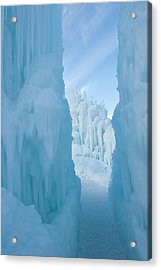 Ice Sculptures At Zermatt Resort Acrylic Print by Howie Garber