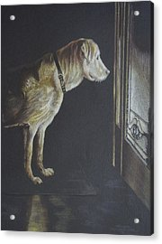 I'll Be Waiting. Acrylic Print by Mary Jo Jung