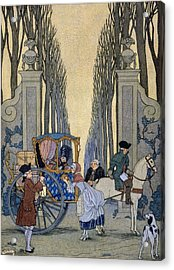 Illustration From 'les Liaisons Dangereuses'  Acrylic Print by Georges Barbier