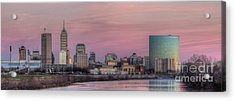 Indianapolis Skyline Acrylic Print by Twenty Two North Photography