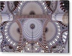 Inside The Azadi Mosque At Ashgabat In Turkmenistan Acrylic Print by Robert Preston