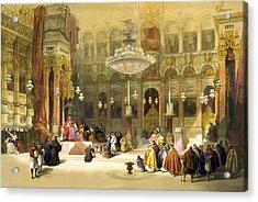 Inside The Church Of The Holy Sepulchre Acrylic Print by Munir Alawi