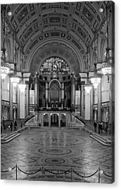Interior Of St Georges Hall Liverpool Uk Grade 1 Listed Build Acrylic Print by Ken Biggs