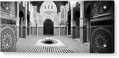 Interiors Of A Medersa, Medersa Bou Acrylic Print by Panoramic Images