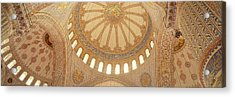 Interiors Of A Mosque, Blue Mosque Acrylic Print by Panoramic Images