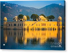 Jal Mahal Acrylic Print by Inge Johnsson