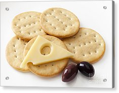 Jarlsberg Cheese And Crackers Acrylic Print by Colin and Linda McKie