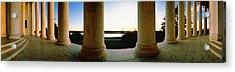 Jefferson Memorial Washington Dc Usa Acrylic Print by Panoramic Images