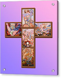 Jesus Of Advent L P M Acrylic Print by Aswell Rowe