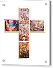 Jesus Of Advent O W Acrylic Print by Aswell Rowe