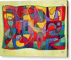 Jigsaw Tapestry Acrylic Print by Diane Fine