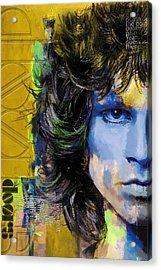 Jim Morrison Acrylic Print by Corporate Art Task Force