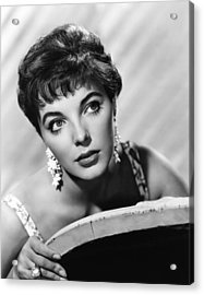 Joan Collins, Ca. Late 1950s Acrylic Print by Everett
