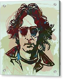 John Lennon Pop Art Sketch Poster Acrylic Print by Kim Wang