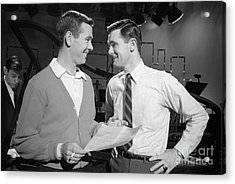 Johnny Carson With His Brother Dick Carson 1963 Acrylic Print by The Phillip Harrington Collection