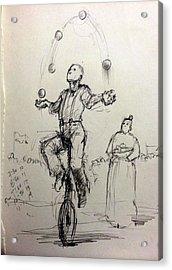 Juggler Acrylic Print by H James Hoff