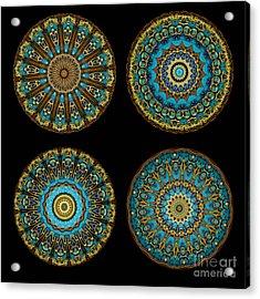 Kaleidoscope Steampunk Series Montage Acrylic Print by Amy Cicconi
