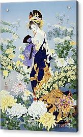 Kiku Acrylic Print by Haruyo Morita
