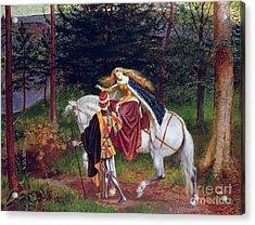 La Belle Dame Sans Merci Acrylic Print by Walter Crane