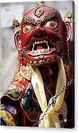 Ladakh, India The Ceremonial Masked Acrylic Print by Jaina Mishra