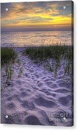 Lake Michigan Sunset Acrylic Print by Twenty Two North Photography