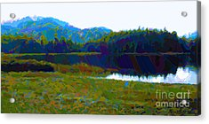 Lakeside Awakes Acrylic Print by Dorinda K Skains