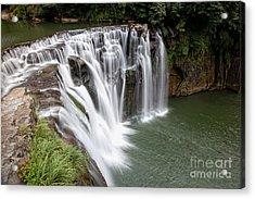 Landscape Shifen Waterfall In Taiwan Acrylic Print by Fototrav Print