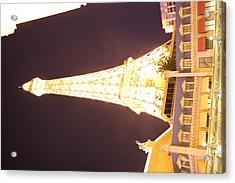 Las Vegas - Paris Casino - 121215 Acrylic Print by DC Photographer