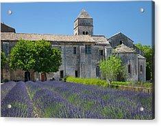 Lavender Below Saint Paul De-mausole Acrylic Print by Brian Jannsen