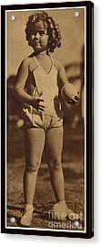Lawn Bowling With Shirley Temple Acrylic Print by Pierponit Bay Archives