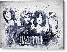 Led Zeppelin Portrait Acrylic Print by Aged Pixel