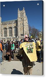 Legalisation Of Marijuana Rally Acrylic Print by Jim West