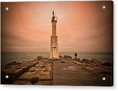Lighthouse Acrylic Print by Okan YILMAZ