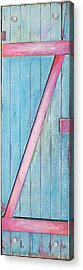 Little Z Door Revisited Acrylic Print by Asha Carolyn Young