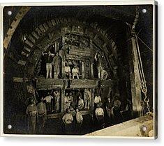 London Underground Construction Acrylic Print by British Library