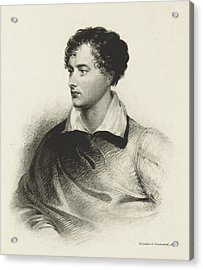 Acrylic Print featuring the photograph Lord Byron, English Romantic Poet by British Library