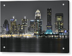 Night Lights Of Louisville Acrylic Print by Frozen in Time Fine Art Photography